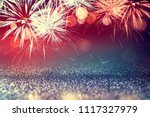 4th july fireworks with glitter ... | Shutterstock . vector #1117327979