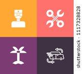 modern  simple vector icon set... | Shutterstock .eps vector #1117328828