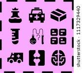 simple 9 icon set of medicine... | Shutterstock .eps vector #1117329440