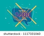 5k followers thank you post... | Shutterstock .eps vector #1117331060