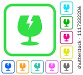 fragile symbol vivid colored... | Shutterstock .eps vector #1117332206