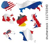 vector illustration of  flags | Shutterstock .eps vector #111733340