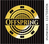 offspring gold shiny badge   Shutterstock .eps vector #1117333436