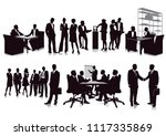 business meeting and... | Shutterstock .eps vector #1117335869