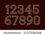 vector vintage numbers in retro ... | Shutterstock .eps vector #1117336268
