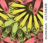seamless floral background.... | Shutterstock .eps vector #1117336358