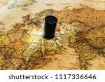oil crisis concept   oil barrel ... | Shutterstock . vector #1117336646