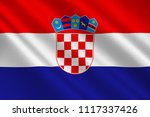 flag of croatia officially the... | Shutterstock . vector #1117337426