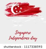 singapore independence day... | Shutterstock .eps vector #1117338593