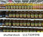 Small photo of selangor, malaysia - june 9,2018 : closeup shot of ALIF cooking oils in supermarket shelf