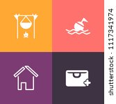 modern  simple vector icon set... | Shutterstock .eps vector #1117341974