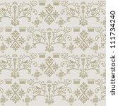 beautiful royalty jewelry... | Shutterstock .eps vector #111734240