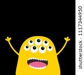 monster scary screaming face...   Shutterstock .eps vector #1117344950