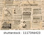 Stock photo creative vintage style background paper texture newspaper strips 1117346423