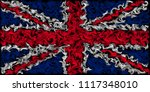 union jack flag of the united...   Shutterstock . vector #1117348010
