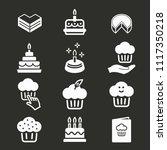 cake birthday vector icon.... | Shutterstock .eps vector #1117350218