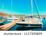 boats at beautiful port of... | Shutterstock . vector #1117350809