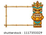 tiki traditional hawaiian... | Shutterstock .eps vector #1117353329
