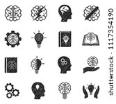 brainstorming icons. black... | Shutterstock .eps vector #1117354190