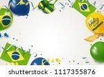 7 september brazil happy... | Shutterstock .eps vector #1117355876