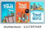 Travel Poster Set Vector...