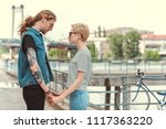 boyfriend with tattoos and... | Shutterstock . vector #1117363220
