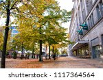 sidewalk in berlin during... | Shutterstock . vector #1117364564
