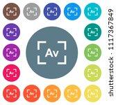 camera aperture value mode flat ... | Shutterstock .eps vector #1117367849