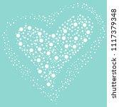 white heart shaped balls on a... | Shutterstock .eps vector #1117379348