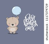 cartoon cute little bear. baby... | Shutterstock .eps vector #1117379729