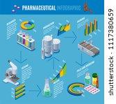 isometric pharmaceutical... | Shutterstock .eps vector #1117380659