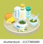 isometric alternative treatment ... | Shutterstock .eps vector #1117380680