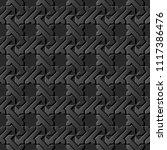 3d dark paper art islamic... | Shutterstock .eps vector #1117386476
