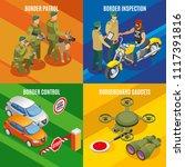 border service isometric design ... | Shutterstock .eps vector #1117391816