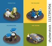 tire production isometric... | Shutterstock .eps vector #1117391906