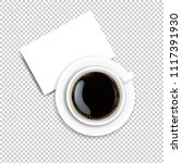 cup with coffee and plate... | Shutterstock .eps vector #1117391930