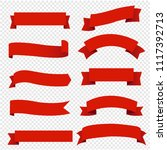 banner red ribbons set... | Shutterstock .eps vector #1117392713