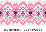 ikat geometric folklore... | Shutterstock .eps vector #1117392983