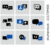 discussion icons set. | Shutterstock .eps vector #111739400