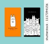 business cards design  funny... | Shutterstock .eps vector #1117394156