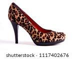 elegant leopard print high... | Shutterstock . vector #1117402676