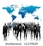 business people with world map... | Shutterstock .eps vector #11174029