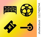 vector icon set  about soccer... | Shutterstock .eps vector #1117403744