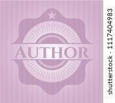author realistic pink emblem | Shutterstock .eps vector #1117404983
