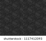 3d dark paper art islamic... | Shutterstock .eps vector #1117412093