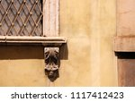 close up of old wall with...   Shutterstock . vector #1117412423