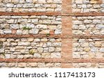 old brick wall and stones...   Shutterstock . vector #1117413173