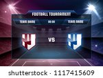 vector template of football or... | Shutterstock .eps vector #1117415609