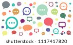 vector illustration of comments ... | Shutterstock .eps vector #1117417820