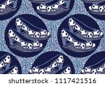 textile fashion african print... | Shutterstock .eps vector #1117421516
